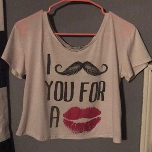 I mustache you for a kiss T-shirt